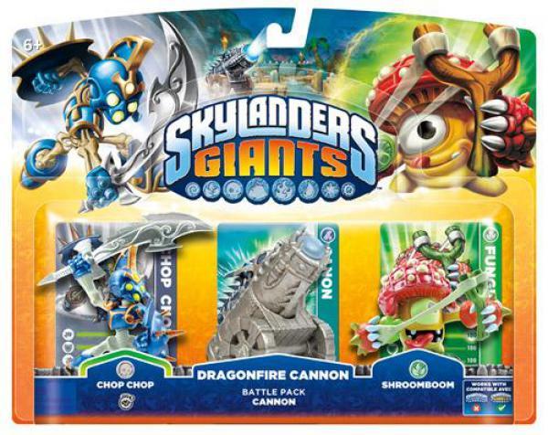Skylanders GIANTS Battle Pack 1 (Chop Chop + Shroomboom + Cannon Piece)