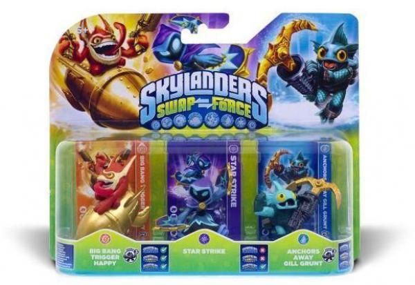 Skylanders SWAP Force Triple Pack C (Star Strike + Gill Grunt + Trigger Happy)