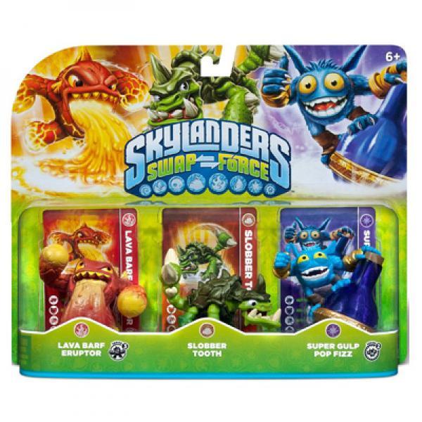 Skylanders SWAP Force Triple Pack A (Sloober Tooth + Eruptor + Pop Fizz)