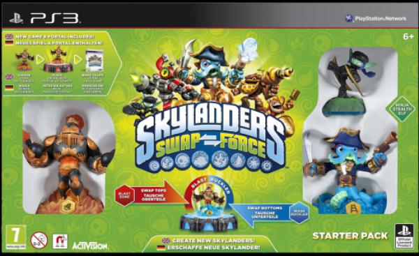 PS3 Skylanders SWAP Force Starter Pack (Game, Portal, Stealth Elf, Blast Zone, Wash Buckler)