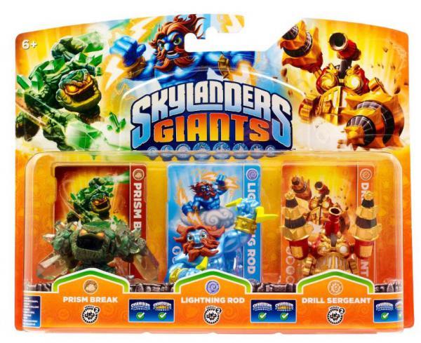 Skylanders GIANTS Triple Pack E (Prism Break + Lightning Rod + Drill Sergeant)