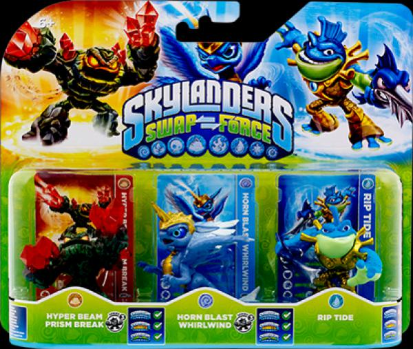 Skylanders SWAP Force Triple Pack E (Rip Tide + Whirlwind + Prism Brake)