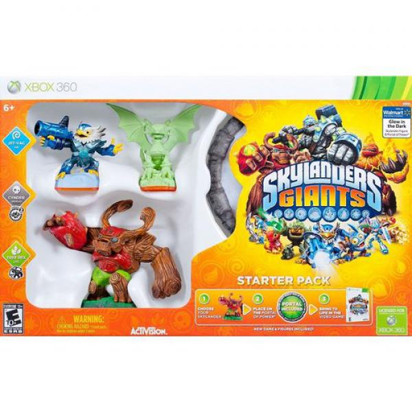 XBOX360 Skylanders GIANTS Glow in the Dark Starter Pack (Game+Port.of Power+Jet-Vac+Cynder+Tree Rex)