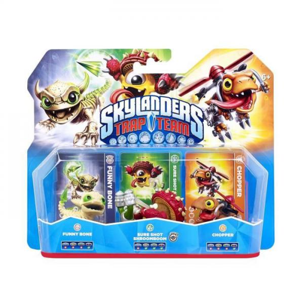 Skylanders Trap Team - Triple Pack 1 (Chopper + Funny Bone + Sure Shot Shroomboom)