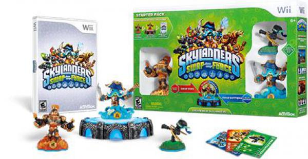 Wii Skylanders SWAP Force Starter Pack (Game, Portal, Stealth Elf, Blast Zone, Wash Buckler)