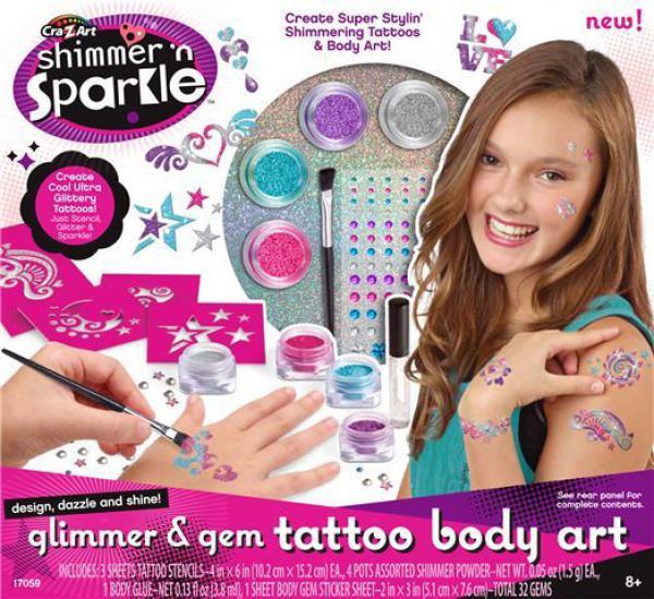Set za oslikavanje tela s tattoo nalepnicama
