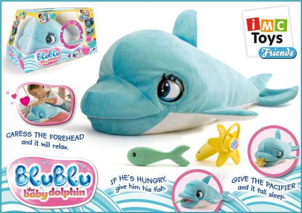 Pliš beba delfin Blu Blu