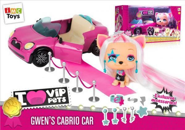 VIP Pets - Gwenin roze kabrio