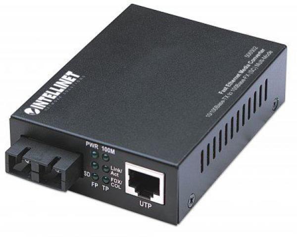 Intellinet FE Media Converter, 10100Base-TX to 100Base-FX (SC) MM 2km